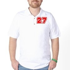 Varsity Uniform Number 27 (Red) T-Shirt