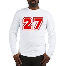 Varsity Uniform Number 27 (Red) Long Sleeve T-Shir