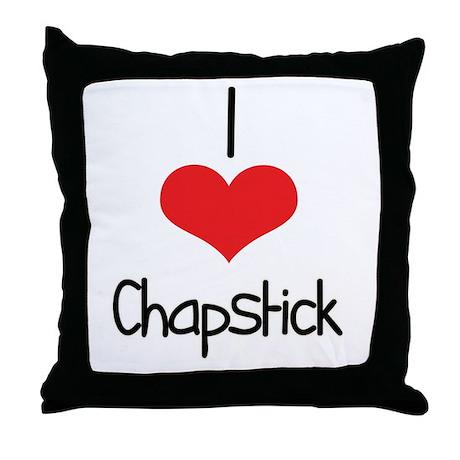 Chapstick Throw Pillow