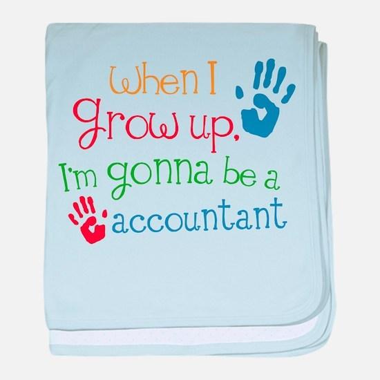 Kids Future Accountant baby blanket
