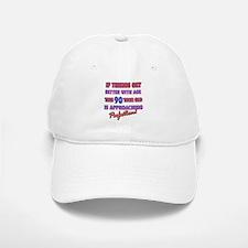 Funny 90th Birthdy designs Baseball Baseball Cap