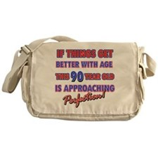 Funny 90th Birthdy designs Messenger Bag