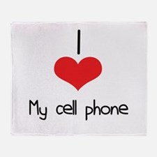 My Cell Phone Throw Blanket