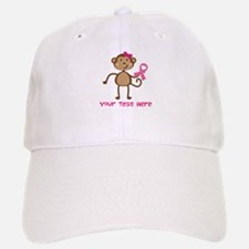 Custom Breast Cancer Monkey Baseball Baseball Cap