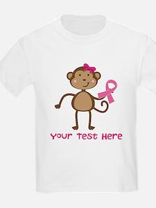 Custom Breast Cancer Monkey T-Shirt