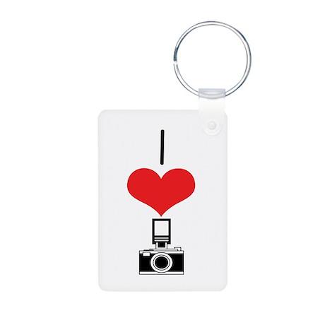 Camera Aluminum Photo Keychain