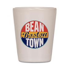Boston Vintage Label Shot Glass