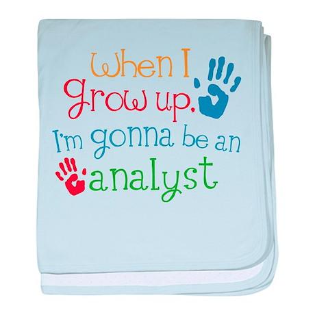 Kids Future Analyst baby blanket