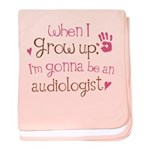 Kids Future Audiologist baby blanket