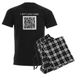 "Cops ""I Ain't Your Papi"" QR Men's Dark Pajamas"