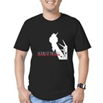 Because of the Brave Men's Fitted T-Shirt (dark)