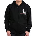 Because of the Brave Zip Hoodie (dark)