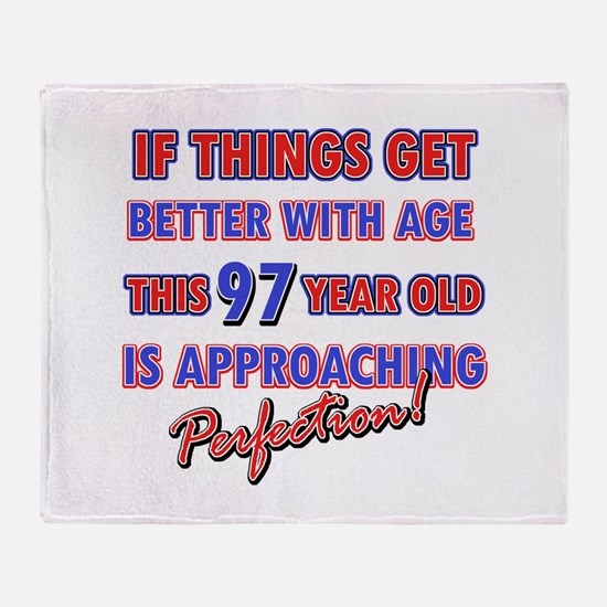 Funny 97th Birthdy designs Throw Blanket