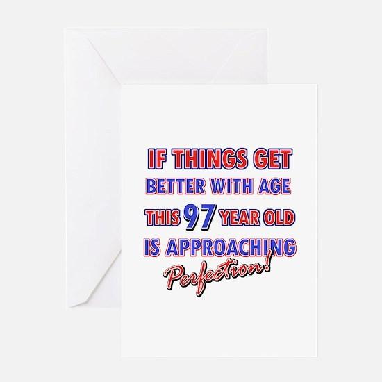 Funny 97th Birthdy designs Greeting Card