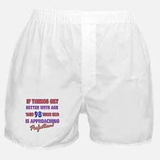 Funny 98th Birthdy designs Boxer Shorts