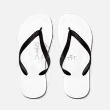 Cute Stick figure family Flip Flops