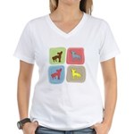 Chinese Crested Women's V-Neck T-Shirt
