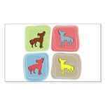 Chinese Crested Sticker (Rectangle 10 pk)