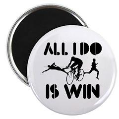 """All I do is Win Triathlon 2.25"""" Magnet (10 pack)"""