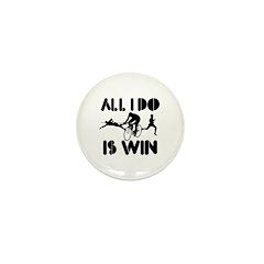 All I do is Win Triathlon Mini Button (10 pack)