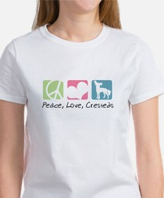 Peace, Love, Cresteds Women's T-Shirt