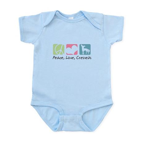 Peace, Love, Cresteds Infant Bodysuit