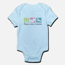 Peace, Love, Cresteds Infant Bodysuit