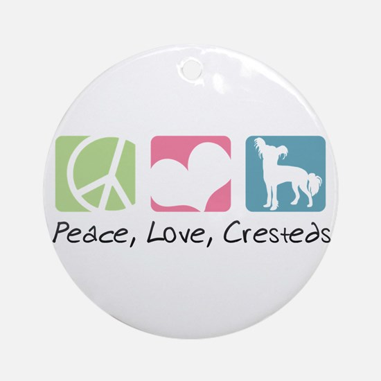 Peace, Love, Cresteds Ornament (Round)