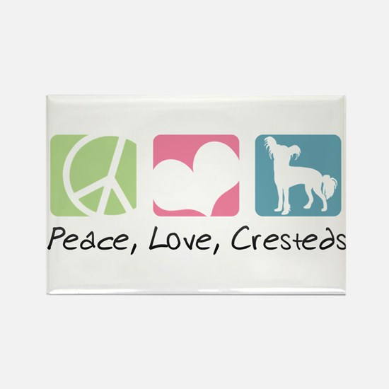 Peace, Love, Cresteds Rectangle Magnet