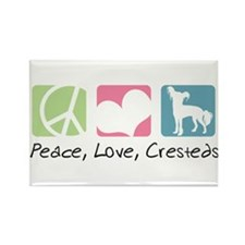 Peace, Love, Cresteds Rectangle Magnet (100 pack)