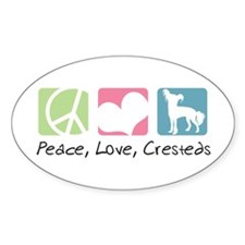 Peace, Love, Cresteds Decal