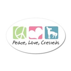 Peace, Love, Cresteds 22x14 Oval Wall Peel