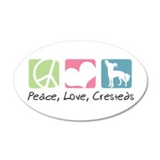 Peace, Love, Cresteds 38.5 x 24.5 Oval Wall Peel