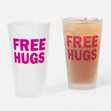 Free Hugs Drinking Glass