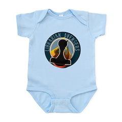 The Flaming Stamp Infant Bodysuit