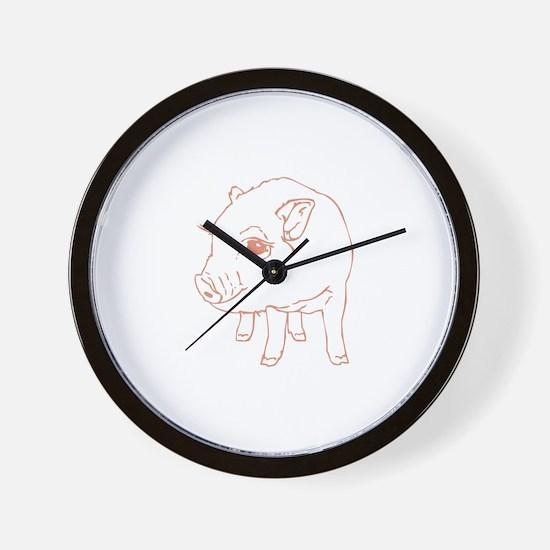 Pig pen Wall Clock