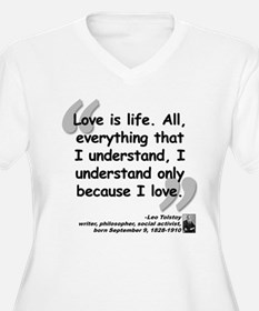 Tolstoy Love Quote T-Shirt