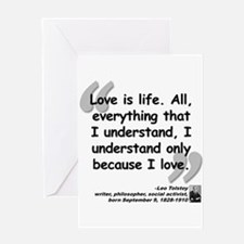 Tolstoy Love Quote Greeting Card