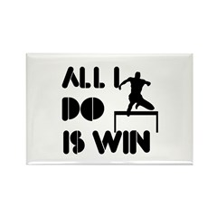 All I do is Win Hurdles Rectangle Magnet (100 pack