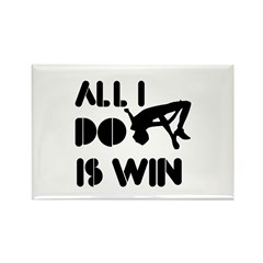 All I do is Win high jump Rectangle Magnet (10 pac