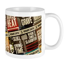 Castle Retro Novel Covers Collage Small Mugs