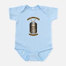 Jolly Roger Skull and Crossbones Infant Bodysuit