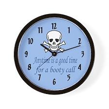 Pirate Booty Call Wall Clock