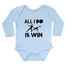 All I do is Win Figureskate Long Sleeve Infant Bod