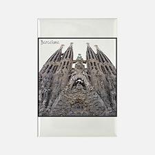 Barcelona Sagrada Rectangle Magnet
