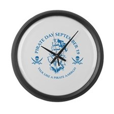 Pirate Day Large Wall Clock