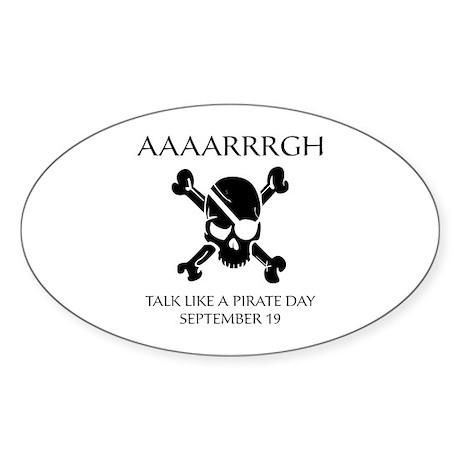 Pirate Day Sticker (Oval)