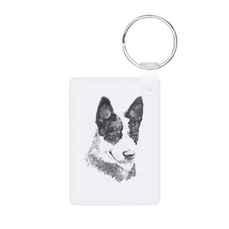Aluminum Photo Keychain, cattle dog