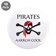 "Pirates aarrgh cool 3.5"" Button (10 pack)"
