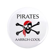 """Pirates aarrgh cool 3.5"""" Button (100 pack)"""